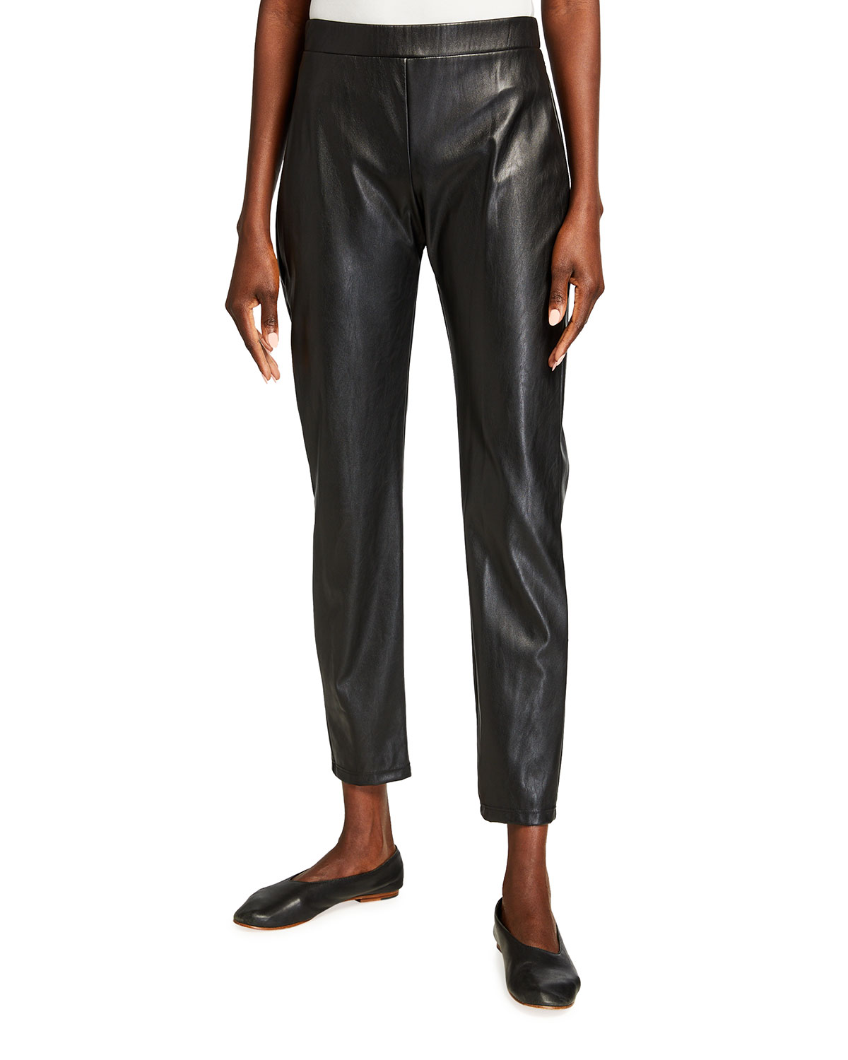 Max Mara Leisure Ranghi Faux Leather Jersey Pants