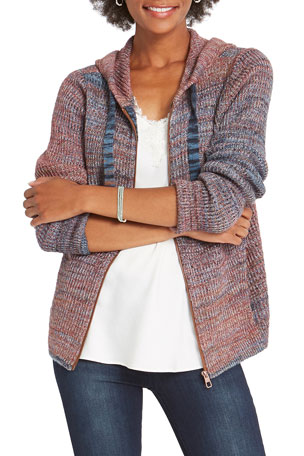 NIC+ZOE Autumn Sky Hooded Cardigan