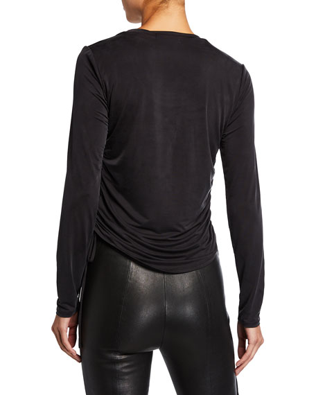 Image 2 of 2: Jonathan Simkhai Collection Ruched Long-Sleeve Top