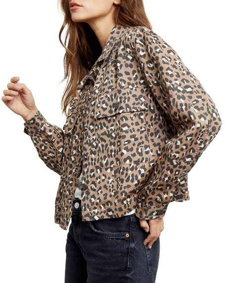 Image 2 of 4: Rails Steffi Leopard-Print Jacket with Flap Pockets