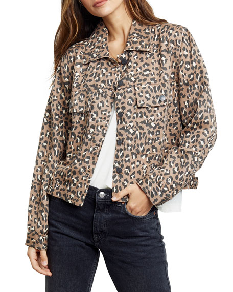 Image 4 of 4: Rails Steffi Leopard-Print Jacket with Flap Pockets