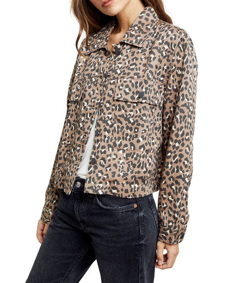 Image 1 of 4: Rails Steffi Leopard-Print Jacket with Flap Pockets