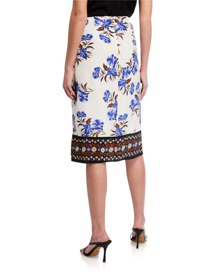 Image 2 of 3: Kobi Halperin Lyle Floral Silk Skirt