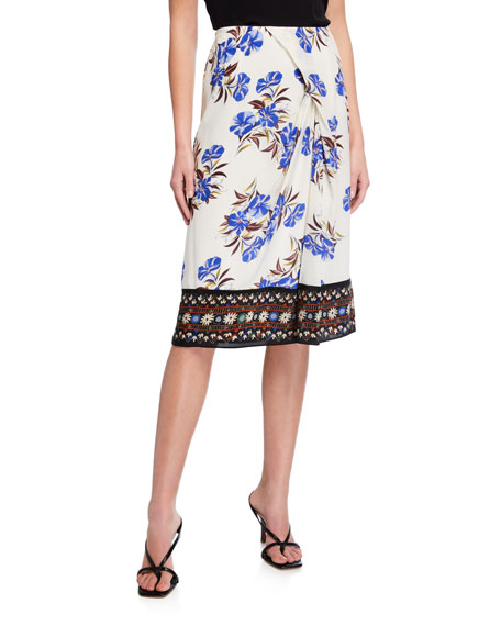 Image 1 of 3: Kobi Halperin Lyle Floral Silk Skirt
