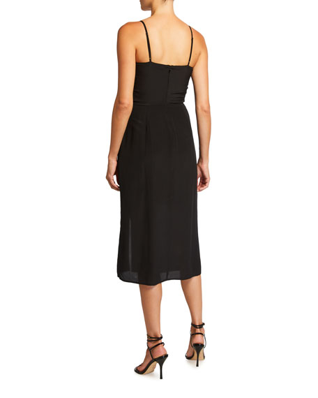 Image 2 of 2: Parker Ellender Ruffle Slit Dress