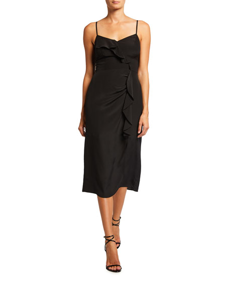 Image 1 of 2: Parker Ellender Ruffle Slit Dress