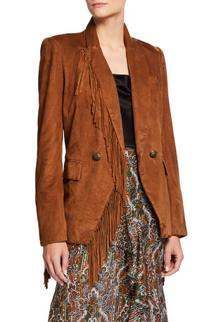Veronica Beard Pali Leather Dickey Jacket