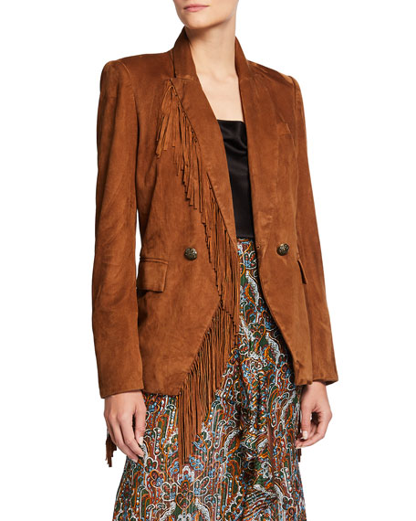 Image 1 of 3: Veronica Beard Pali Leather Dickey Jacket