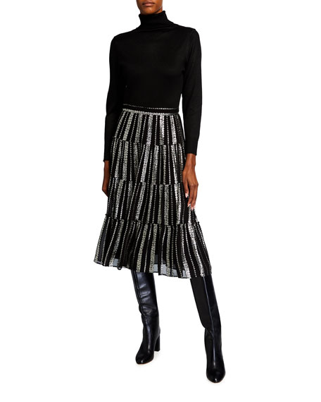 MICHAEL KORS $175 Womens New 1344 Black Ruffled Halter