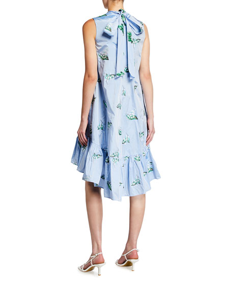 Image 2 of 2: REDValentino Mock-Neck Sleeveless High-Low Dress