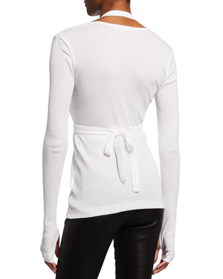 Image 2 of 2: Helmut Lang Wrapped Long-Sleeve Tee