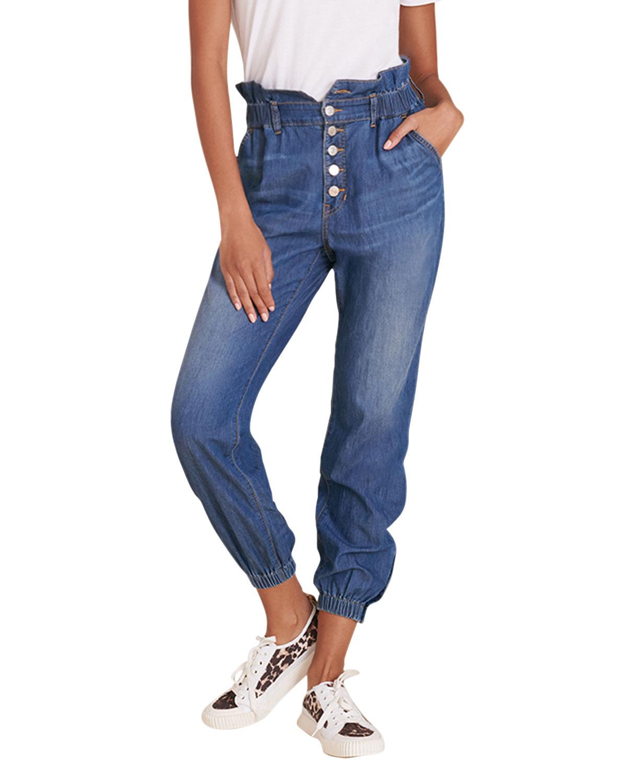 Veronica Beard Jeans Tedi Paperbag Denim Jogger Pants
