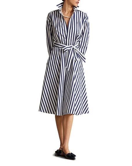 Polo Ralph Lauren Striped Long-Sleeve Shirtdress