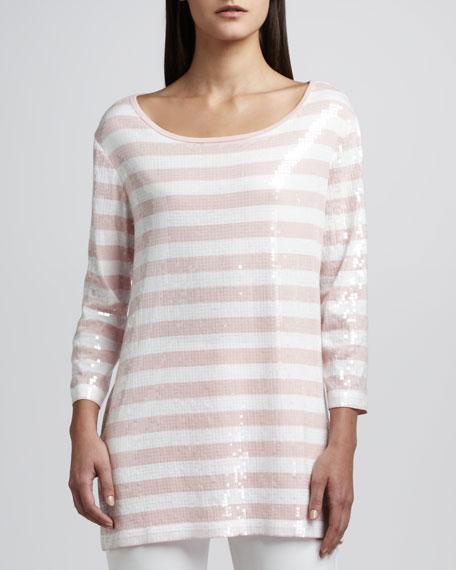 Sequin Stripe Tunic, Petite