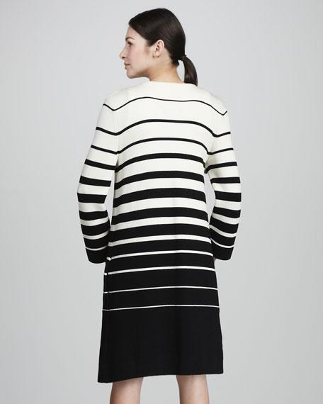 Striped Crepe Jacket