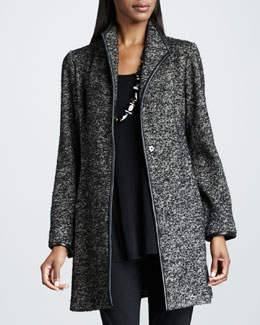 Eileen Fisher Speckled Tweed Jacket, Women's