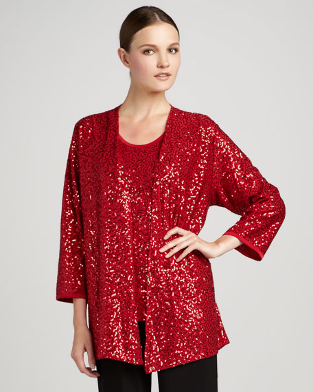 Womens Sequin Stretch Jacket