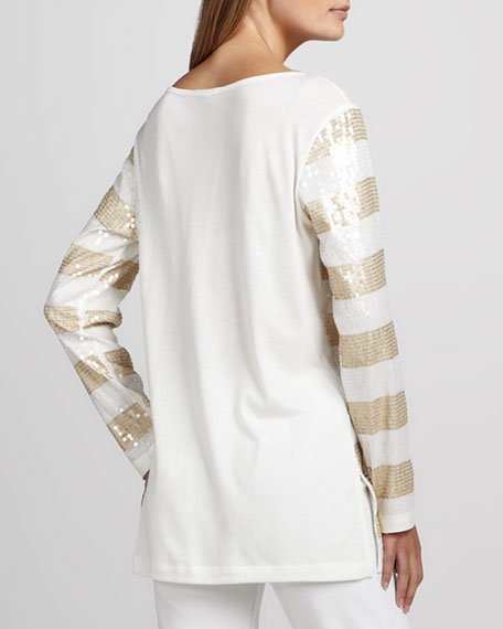 Sequin Striped Tunic