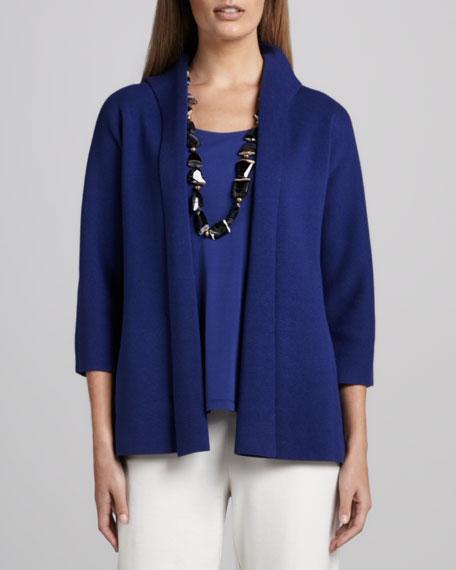 Three-Quarter Sleeve Knit Jacket, Petite