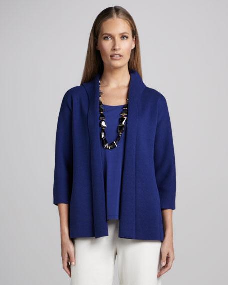 Three-Quarter Sleeve Knit Jacket, Women's