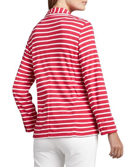 Striped Knit Jacket, Petite