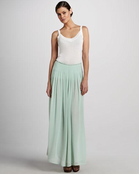Pleated Maxi Skirt, Women's