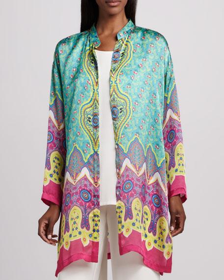 Allover Print Silk Jacket, Women's