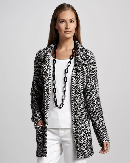 Organic Knit Long Jacket, Petite