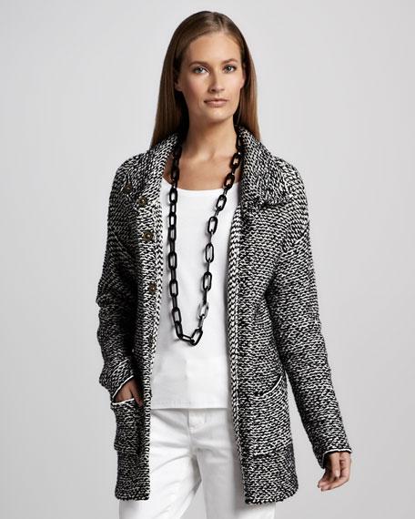 Organic Knit Long Jacket, Petite