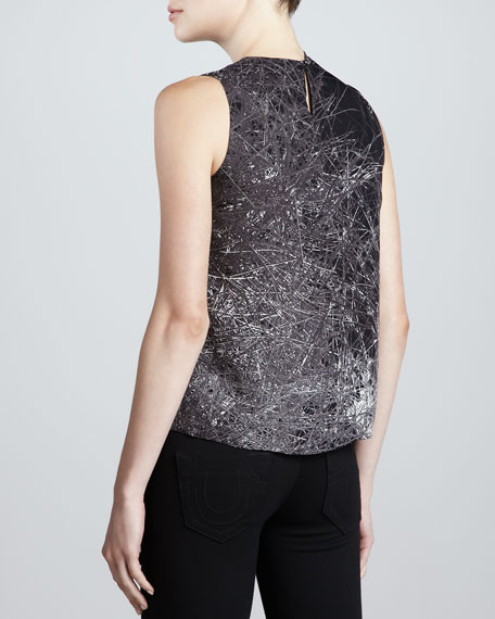Sleeveless Blouse with Shoulder Drape