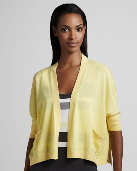 Boxy Jersey Cardigan, Women's