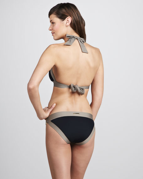 Mayan Contrast-Trim Hipster Bottom