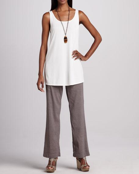 Linen-Blend Trousers, Women's