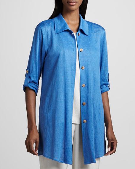 Long Linen Shirt, Women's