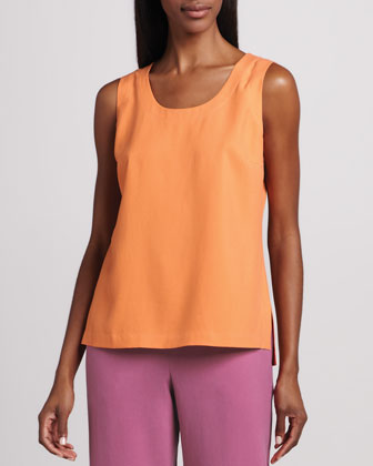 Easy-Fit Silk Tank, Petite