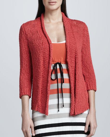 Wavy Linen Cardigan, Women's