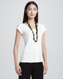 Eileen Fisher Stretch Jersey Tee, Petite