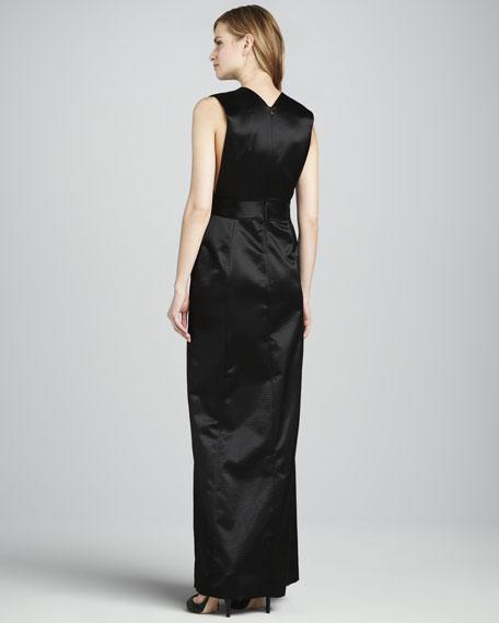 Deiliah Slit-Front Gown