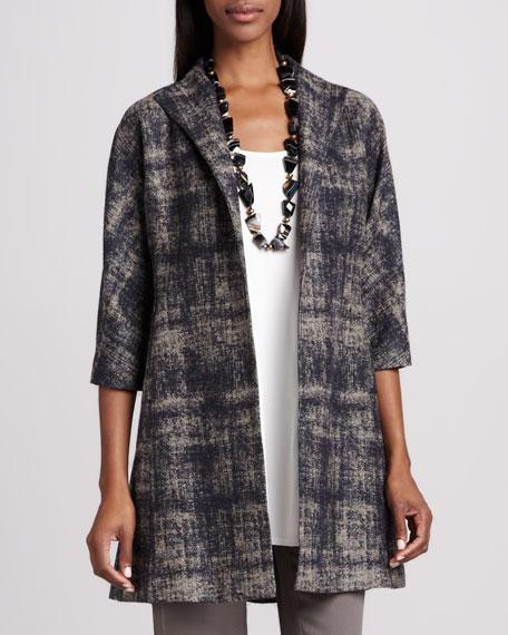 Illusion Jacquard Coat, Petite