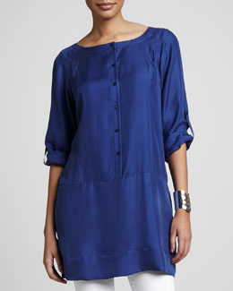 Eileen Fisher Silk Tunic/Dress, Petite