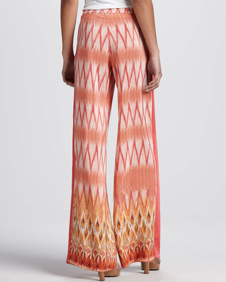 Printed Drawstring Silk Pants (Stylist Pick!)