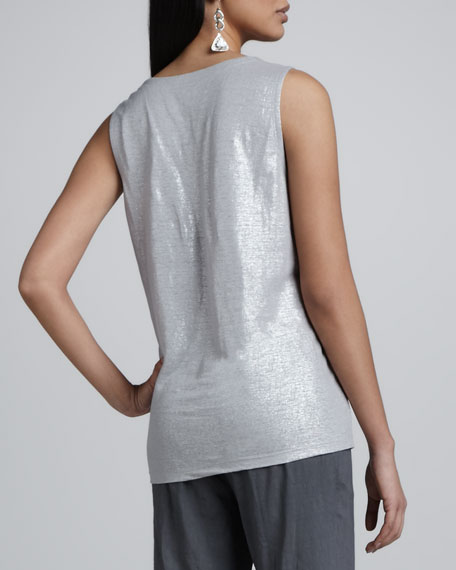 Shimmer Sleeveless Shell, Women's