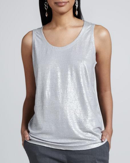 Shimmer Sleeveless Shell, Women's