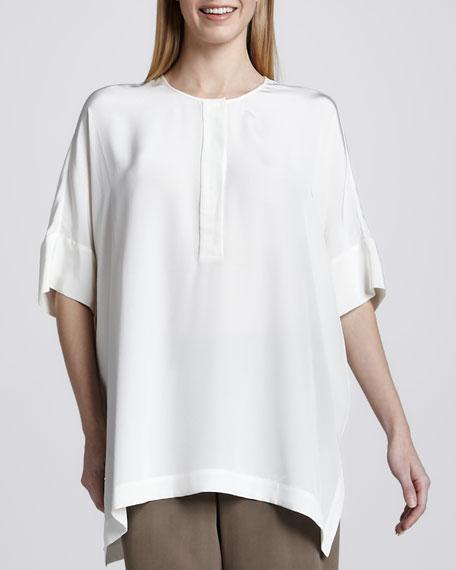 Silk Dolman-Sleeve Tunic, Women's