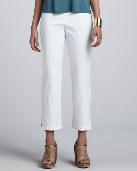 Slim Twill Ankle Pants, Women's