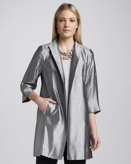 Jacquard Face-Framer Jacket, Women's