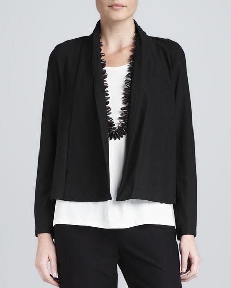 Washable-Stretch Crepe Short Jacket, Women's