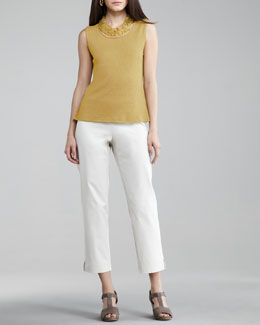 Eileen Fisher Twill Ankle Pants, Women's