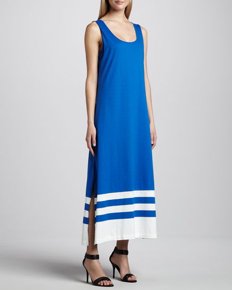 Border-Stripe Tank Dress, Women's