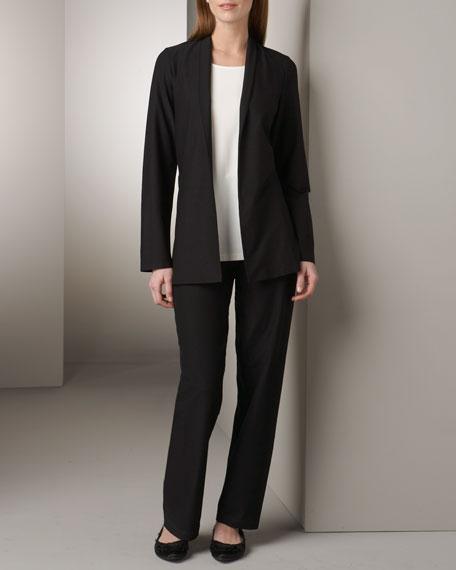 Crepe Shawl-Collar Jacket, Petite